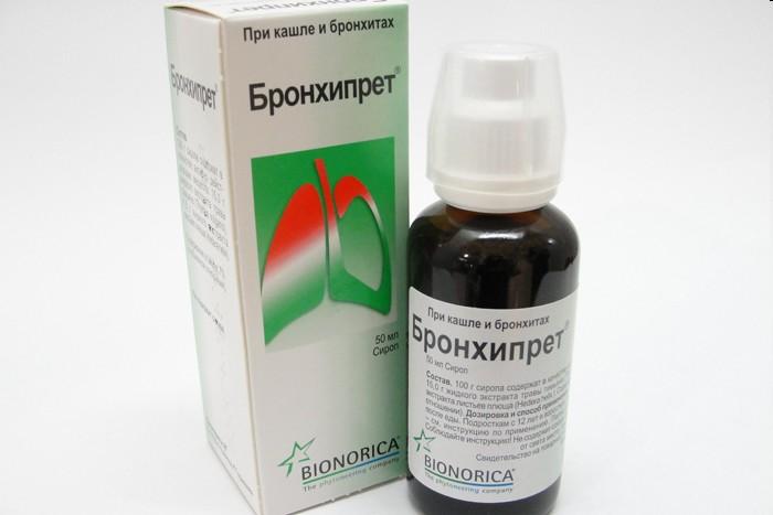 Лечение бронхита сиропами